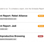 Report Scheduling - Reports List